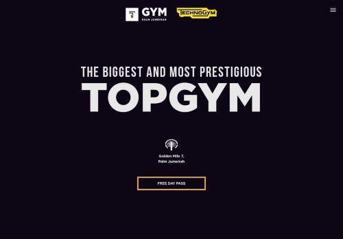 لقطة شاشة لموقع TOP GYM Dubai بتاريخ 30/03/2021 بواسطة دليل مواقع روكيني