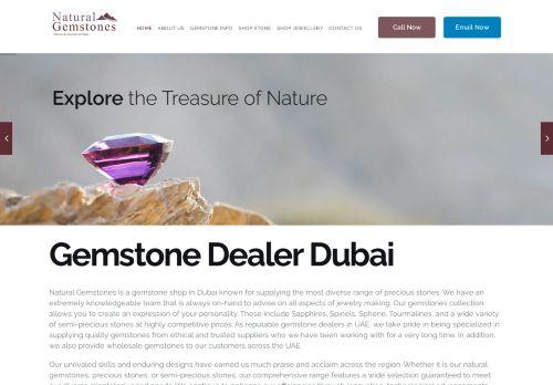 لقطة شاشة لموقع Natural Gemstones Dubai بتاريخ 30/03/2021 بواسطة دليل مواقع روكيني