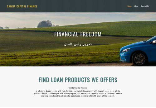 لقطة شاشة لموقع Sawda Capital Finance بتاريخ 03/04/2021 بواسطة دليل مواقع روكيني