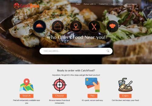لقطة شاشة لموقع كاتش فود لطلب الطعام اون لاين بتاريخ 08/04/2021 بواسطة دليل مواقع روكيني