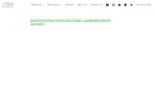 لقطة شاشة لموقع Swimming Pool Contractors Dubai بتاريخ 14/09/2021 بواسطة دليل مواقع روكيني