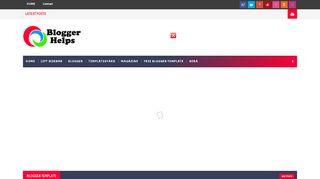 لقطة شاشة لموقع Blogger Helps بتاريخ 03/12/2019 بواسطة دليل مواقع روكيني