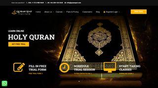 لقطة شاشة لموقع Quran Ayat – Online Quran Institute بتاريخ 26/02/2020 بواسطة دليل مواقع روكيني