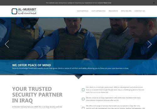 لقطة شاشة لموقع المرابط للخدمات الأمنية بتاريخ 13/09/2020 بواسطة دليل مواقع روكيني