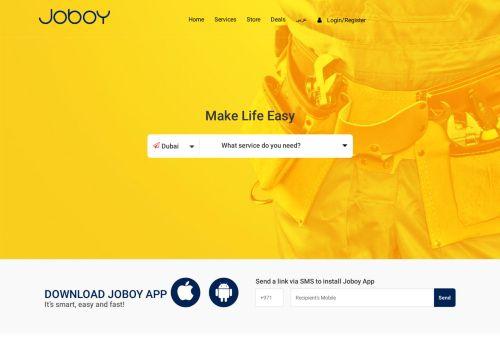 لقطة شاشة لموقع JOBOY UAE بتاريخ 13/09/2020 بواسطة دليل مواقع روكيني