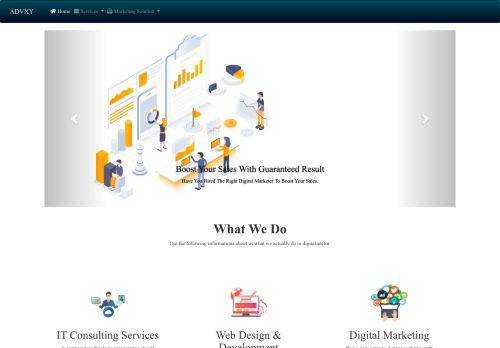 لقطة شاشة لموقع ادفكسي للبرمجة و التسويق الإلكتروني بتاريخ 10/11/2020 بواسطة دليل مواقع روكيني