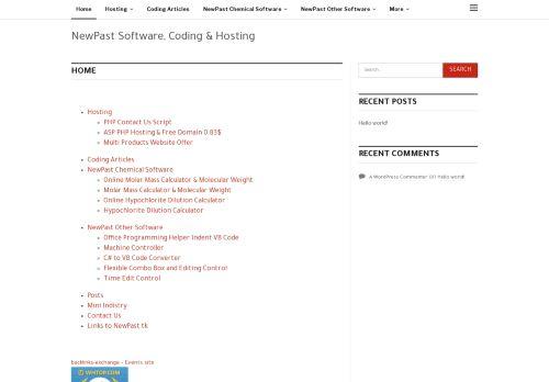 لقطة شاشة لموقع نيوباست للانترنت والبرمجيات بتاريخ 10/11/2020 بواسطة دليل مواقع روكيني