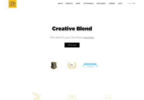 لقطة شاشة لموقع creative blend بتاريخ 15/11/2020 بواسطة دليل مواقع روكيني