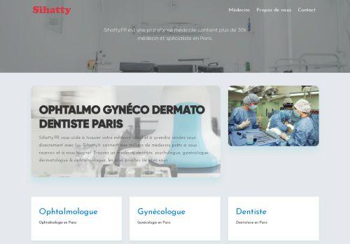 لقطة شاشة لموقع أطباء فرنسا بتاريخ 19/01/2021 بواسطة دليل مواقع روكيني