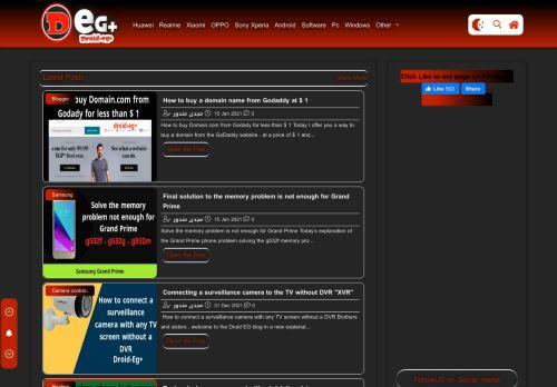 لقطة شاشة لموقع Droid-Eg+ | Learn software and phone repair بتاريخ 19/01/2021 بواسطة دليل مواقع روكيني